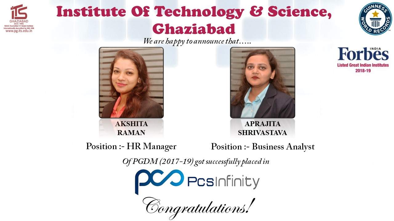 Highest management placements in NCR